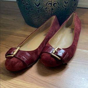 Michael by Michael Kors Suede Flats